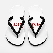 LISTEN TO MARGARET-Bod red 300 Flip Flops