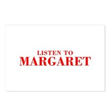 LISTEN TO MARGARET-Bod red 300 Postcards (Package
