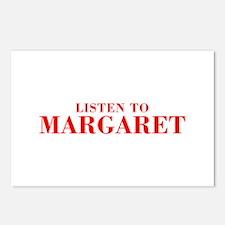 LISTEN TO MARGARET-Bod red 300 Postcards (Package