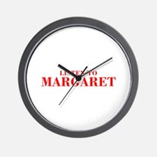 LISTEN TO MARGARET-Bod red 300 Wall Clock