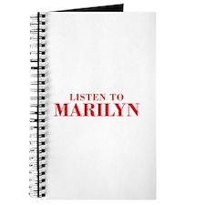 LISTEN TO MARILYN-Bod red 300 Journal