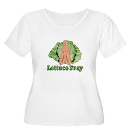 Lettuce Pray Women's Plus Size Scoop Neck T-Shirt