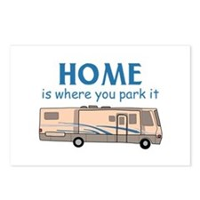 Home Is Where You Park It! Postcards (Package of 8