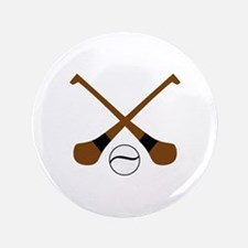 "HURLING BATS AND BALL 3.5"" Button"