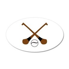 HURLING BATS AND BALL Wall Decal
