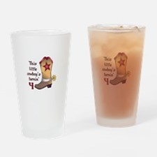COWBOY IS FOUR Drinking Glass