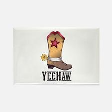 COWBOY BOOT YEEHAW Magnets