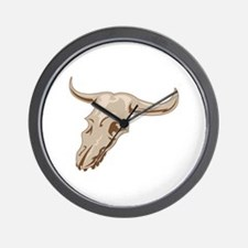 STEER SKULL Wall Clock