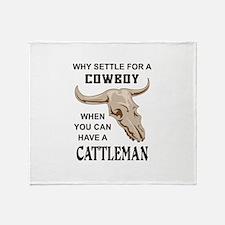 COWBOY OR CATTLEMAN Throw Blanket