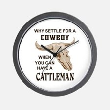 COWBOY OR CATTLEMAN Wall Clock