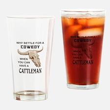 COWBOY OR CATTLEMAN Drinking Glass