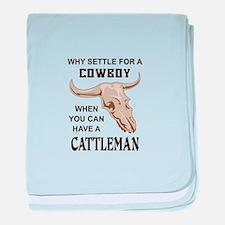 COWBOY OR CATTLEMAN baby blanket