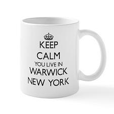 Keep calm you live in Warwick New York Mugs