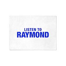 LISTEN TO RAYMOND-Hel blue 400 5'x7'Area Rug