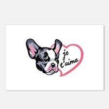 FRENCH BULLDOG LOVE Postcards (Package of 8)