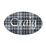 Tartan - Craig 20x12 Oval Wall Decal