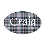 Tartan - Craig 35x21 Oval Wall Decal