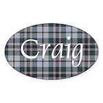 Tartan - Craig Sticker (Oval)