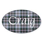 Tartan - Craig Sticker (Oval 10 pk)