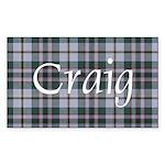 Tartan - Craig Sticker (Rectangle)