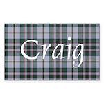 Tartan - Craig Sticker (Rectangle 10 pk)