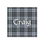 Tartan - Craig Square Sticker 3