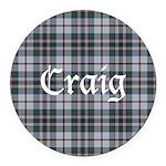 Tartan - Craig Round Car Magnet