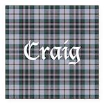 Tartan - Craig Square Car Magnet 3