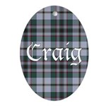 Tartan - Craig Ornament (Oval)