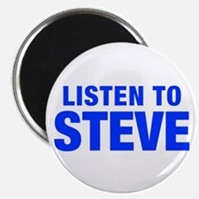 LISTEN TO STEVE-Hel blue 400 Magnets
