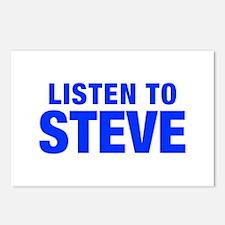 LISTEN TO STEVE-Hel blue 400 Postcards (Package of
