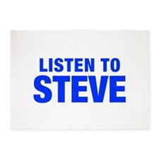 LISTEN TO STEVE-Hel blue 400 5'x7'Area Rug