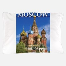 Moscow Kremlin Saint Basil's Cathedral Pillow Case