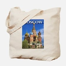 Moscow Kremlin Saint Basil's Cathedral Re Tote Bag