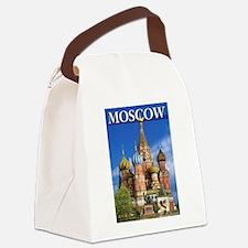 Moscow Kremlin Saint Basil's Cath Canvas Lunch Bag