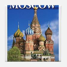 Moscow Kremlin Saint Basil's Cathedra Tile Coaster