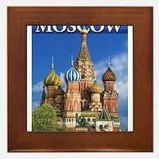 Moscow Kremlin Saint Basil's Cathedral Framed Tile