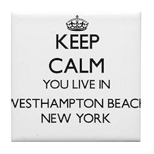 Keep calm you live in Westhampton Bea Tile Coaster