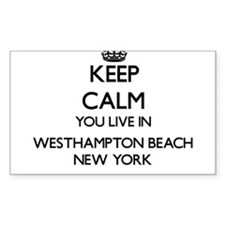 Keep calm you live in Westhampton Beach Ne Decal