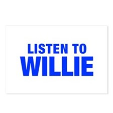 LISTEN TO WILLIE-Hel blue 400 Postcards (Package o