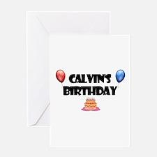 Calvin's Birthday Greeting Card
