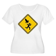 Owl Attack Warning (No Lanes) 2 Plus Size T-Shirt