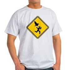 Owl Attack Warning (No Lanes) 2 colo T-Shirt