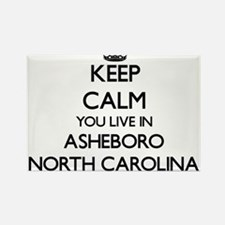Keep calm you live in Asheboro North Carol Magnets
