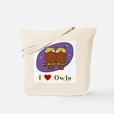 Owl Tote Bag: I [heart] Owls