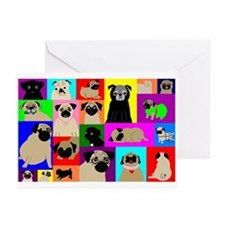 Lots o Pugs Greeting Cards (Pk of 10)