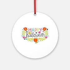 HAPPY HALLOWEEN Ornament (Round)