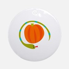 SNAKE AND PUMPKIN Ornament (Round)