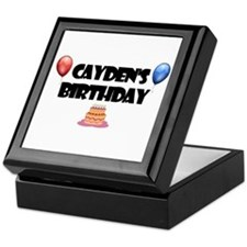 Cayden's Birthday Keepsake Box