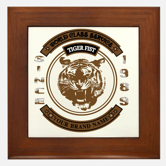 Tiger Fist Framed Tile